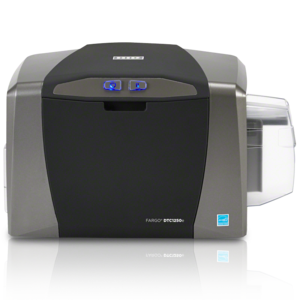 Front view of Fargo DTC1250e ID Card Printer